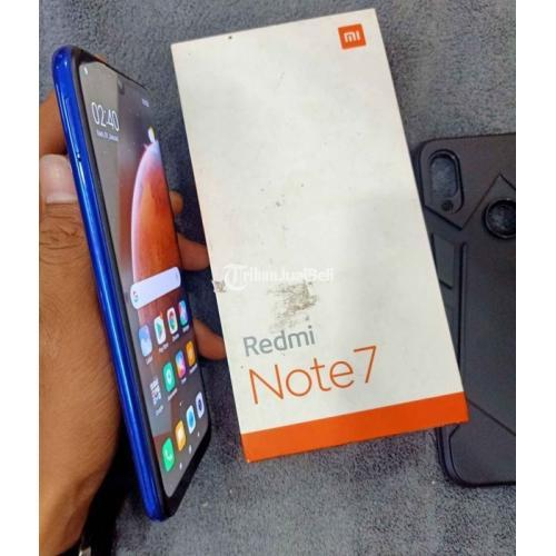 HP Xiaomi Redmi Note 7 Bekas Ram 3/32GB Fullset Mulus Nominus Segel - Semarang