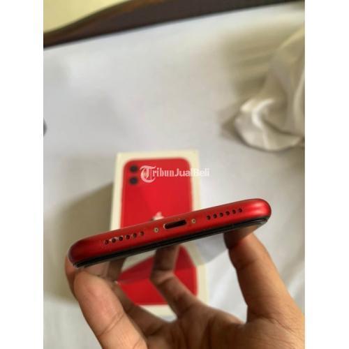 HP Apple iPhone 11 128GB Bekas Red Ex Inter Fullset Ori Mulus Harga Nego - Surabaya