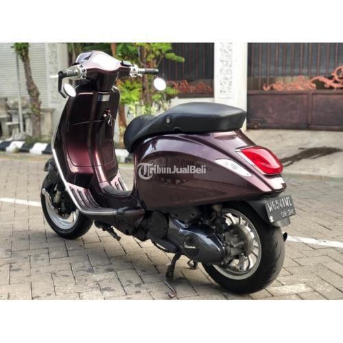 Motor Vespa Primavera 2014 Burgundy Pajak Aktif Surat Lengkap Full Spec - Surabaya
