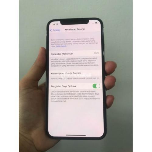 HP Apple iPhone X 256GB Bekas Fullset Mulus Garansi Personal Harga Murah - Jogja