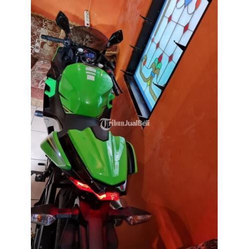 Motor Kawasaki Ninja 2018 Warna Hijau Pajak Aktif Surat Lengkap - Yogyakarta