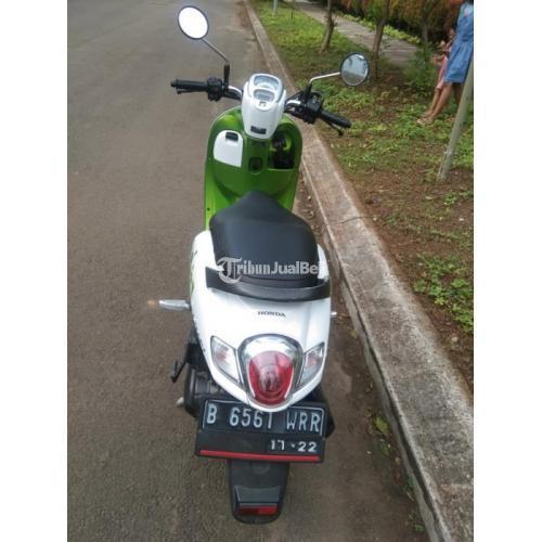 Motor Honda Scoopy 2017 Surat Lengkap Pajak Hidup Warna Hijau Putih - Jakarta Barat