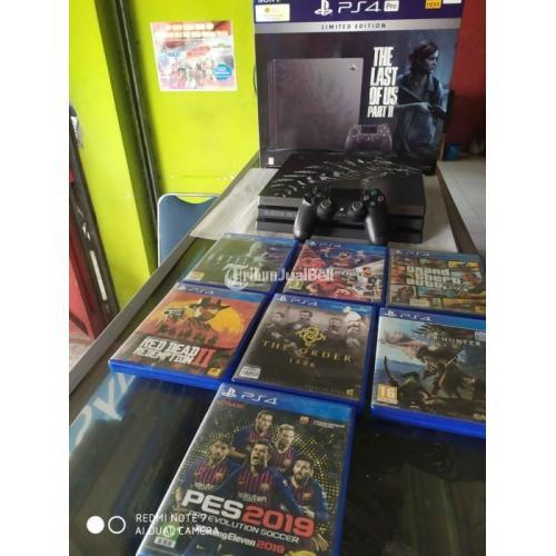 Konsol Game Sony PS4 Pro Limited Edition Bekas TLOU Mulus Like New - Solo