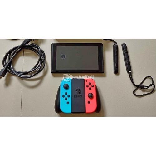 Konsol Game Bekas Nintendo Switch Neon Normal Bagus Mulus Free Tas - Surabaya