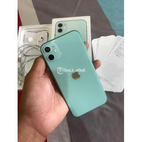 Apple iPhone 11 64GB Green HP Bekas Fullset Normal Like New iCloud Aman - Jakarta