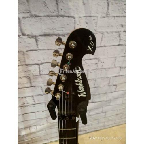 Gitar Listrik Washburn XSeries Bekas Bagus Warna Hitam Harga Nego - Surabaya