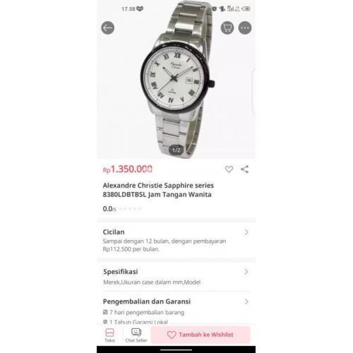 Jam tangan Alexandre Christie 8380LD For Woman Bekas Bagus Harga Nego - Semarang