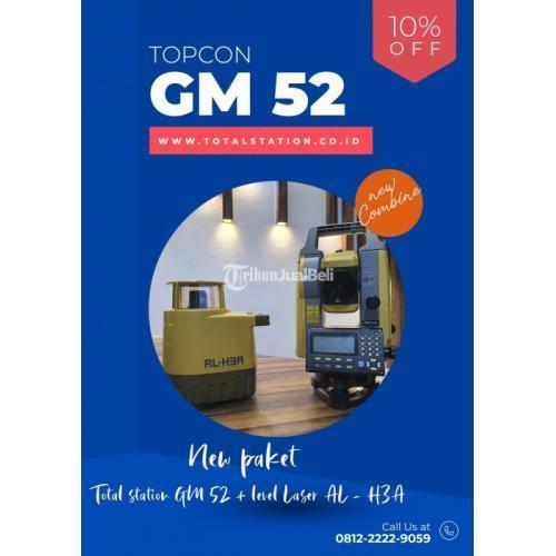 Total Station Topcon GM 52 + Lavel Laser Topcon Paket Penjualan - Bandung