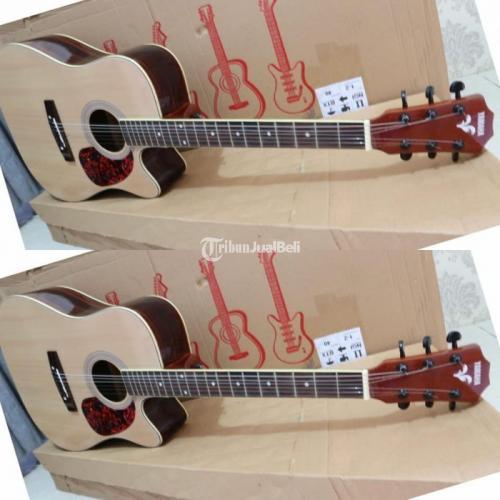 Gitar Akustik Full List Gading Tanaman Besi Double Action Free Ongkir - Tangerang