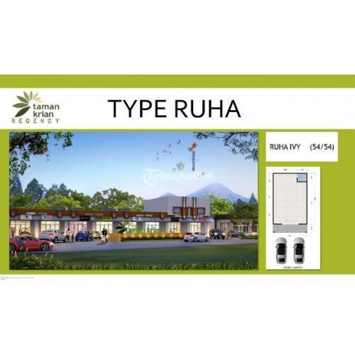 Dijual Ruko Luas 54 m2 1 Kamar Harga Murah di Taman Krian Regency - Sidoarjo