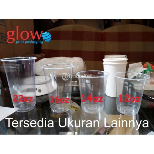 Sablon Cup Plastik Datar 14oz 7gr Merk SAP/POLY Minimal Order 1000 Cup - Jakarta Pusat