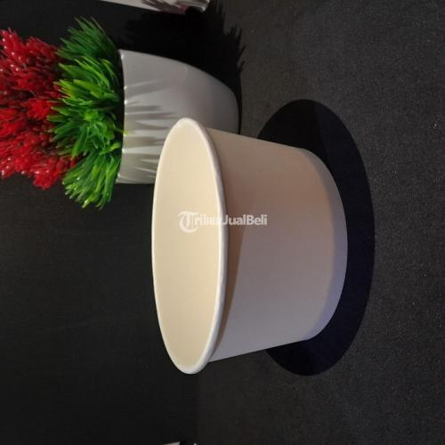 Sablon Paper Bowl 650ml Bahan Food Grade Custom Desain - Jakarta Pusat