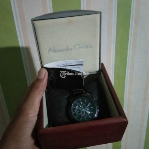 Jam Tangan Pria Rantai Alexandre Christie AC 6141mc Black-Grey Second - Surabaya