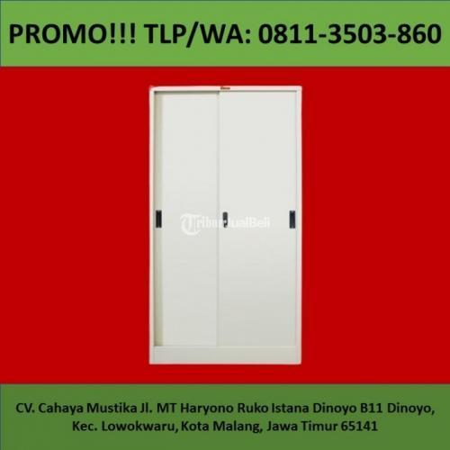 Lemari Pakaian Besi Ukuran 80x43x182 Cm Harga Murah Mulus - Malang