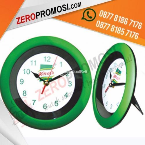 souvenir jam 2 Fungsi Jam Meja dan Dinding 137H Diameter 21 Cm Baterai AA - Tangerang