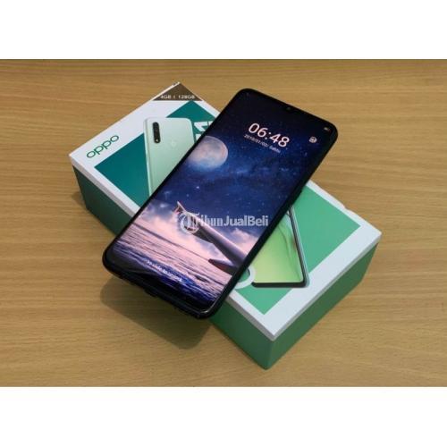 HP Oppo A31 4/128GB Bekas Fullset Mulus Segel Nominus Bisa TT - Makassar