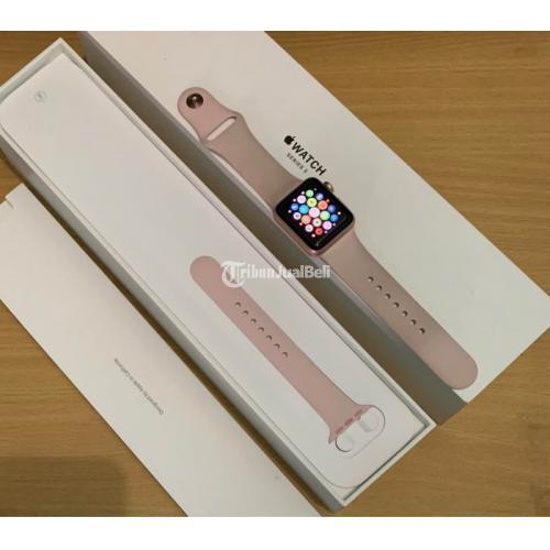Smartwatch Apple Bekas iWatch Seri 3 38mm iBox Fullset Mulus Nominus - Makassar