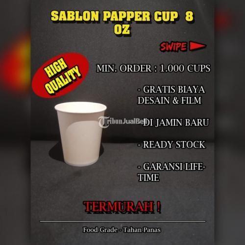 Sablon Paper Cup 8oz Bahan Food Grade Gratis Desain Cup Tidak Termasuk Tutup - Jakarta Pusat