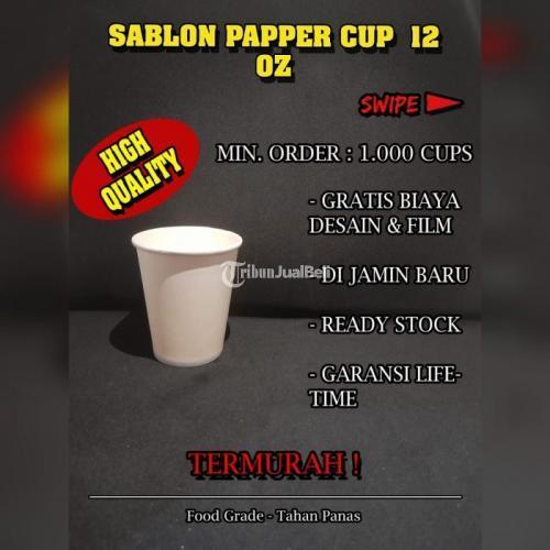 Sablon Paper Cup 12oz Bahan Food Grade Cup Tidak Termasuk Tutup - Jakarta Pusat