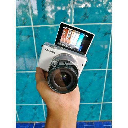 Kamera Mirrorless Bekas Canon EOS M10 Fullset Box Normal Mulus - Demak