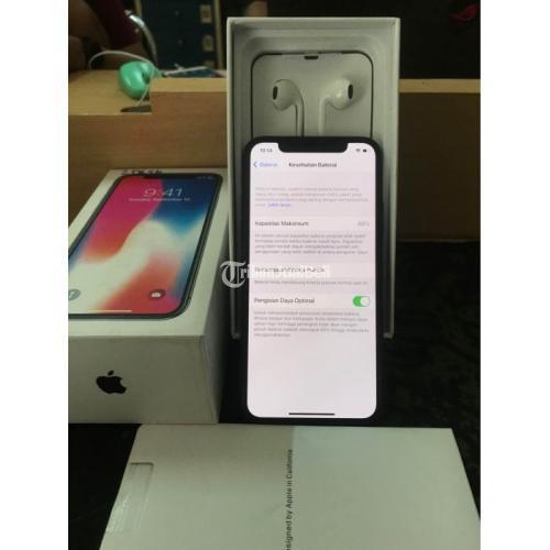 HP Apple Bekas iPhone X 256GB Inter Fullset Aman Nominus Siap Pakai - Semarang