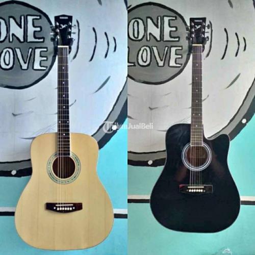 Gitar Akustik Kondisi Baru Suara Jernih Ready Stok 2 Varian Warna - Batang