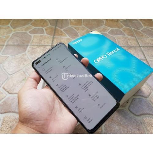 HP Oppo Reno 4 8/128GB Fullset Blue Bekas Garansi Kondisi Mulus No Minus - Yogyakarta
