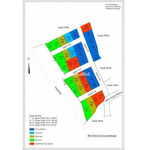 Jual Tanah 2500m2 Dekat Pusat Kota Cocok untuk Rumah/Villa - Buleleng, Bali