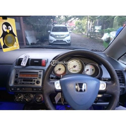 Mobil Honda Jazz 2004 Biru Bekas Matic Body Mulus Mesin Normal - Surabaya