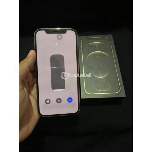 HP iPhone 12 Pro 128G Gold Bekas Fullset Bekas Baterai 100% Garasnsi - Bangkalan