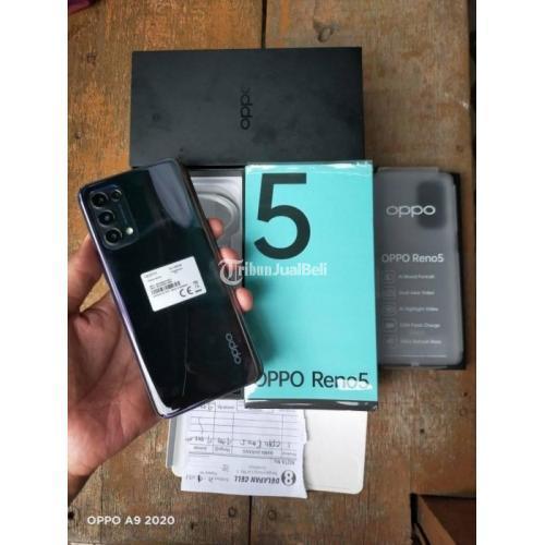 HP Oppo Oppo Reno 5 Ram 8/128GB Fullset Bekas Mulus No Minus - Surabaya