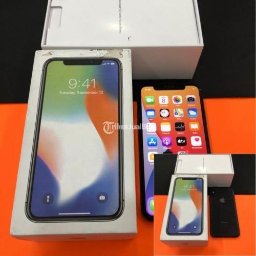 HP iPhone X 64GB Bekas Grey Normal iCloud Bebas Reset Fullset Garansi Personal - Semarang
