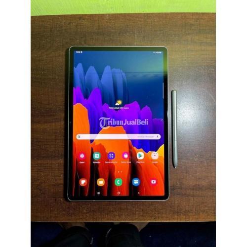 Tablet Samsung Tab S7 Plus Bekas 2020 Fullset Mulus Normal Like New - Surabaya
