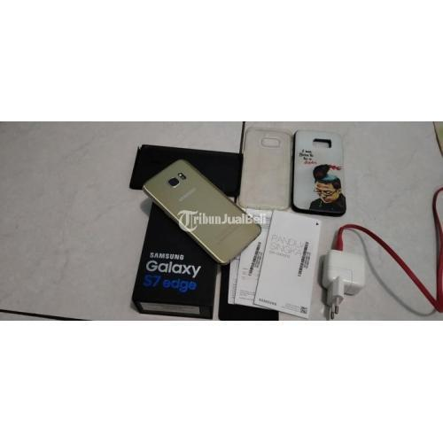 HP Samsung S7 eDGE 4/32GB Fullset Bekas Body Mulus Harga Nego - Bandung