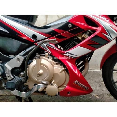 Motor Suzuki Satria F150 2009 Bekas Merah Surat Lengkap Mesin Halus - Solo