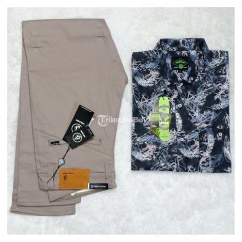 Baju Pria Satu Set Spesial Price Baru Kualitas Terjamin Kemeja Motif - Surabaya