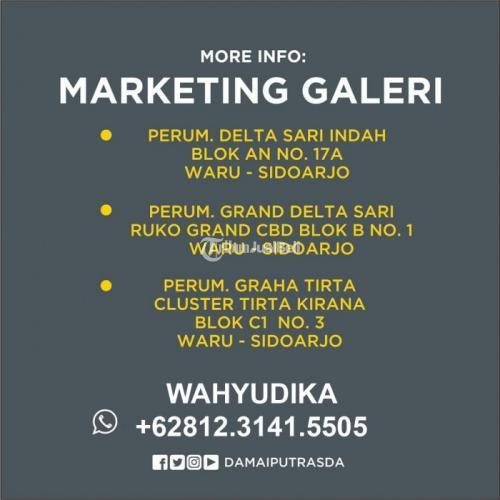 Dijual Rumah Delta Magnolia 3 No.56 Konsep Modern Strategis di Waru - Sidoarjop