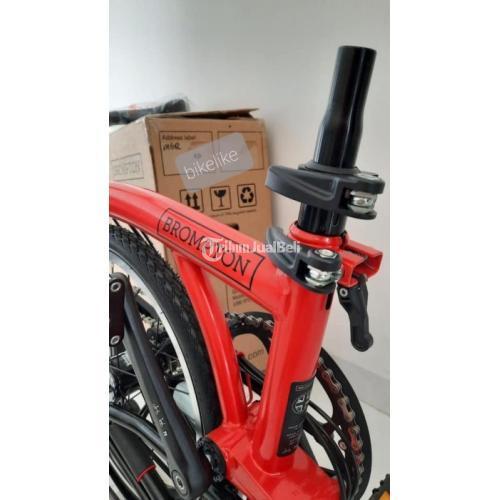 Sepeda Lipat Brompton M6R Red Rocket Baru Gress Spesial Edition Lengkap - Jakarta