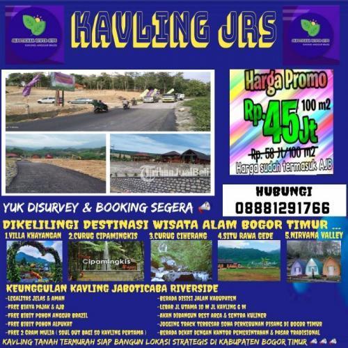 Dijual Tanah Kavling Wisata Alam ( JRS ) Termurah di Kabupaten BGR - Bogor