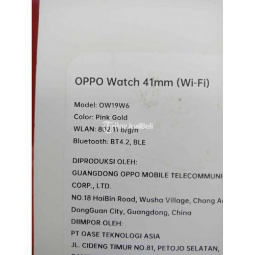 Oppo Watch 41mm (Wifi) Pink Gold Bekas Normal Bagus Harga Nego - Depok