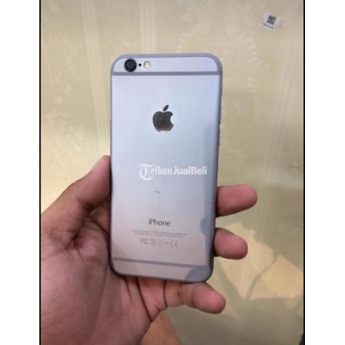 HP iPhone 6 64GB Fullset Silver Bekas Mulus No Minus Siap Pakai - Semarang