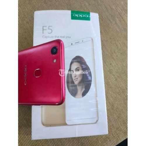 HP Oppo F5 Ram 4/32GB Red Fullset Bekas Harga Nego Mulus Normal - Solo