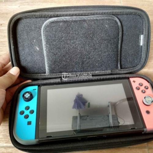 Konsol Nintendo Switch V2 + Controller Soundfox Bekas Fullset Like New - Bekasi