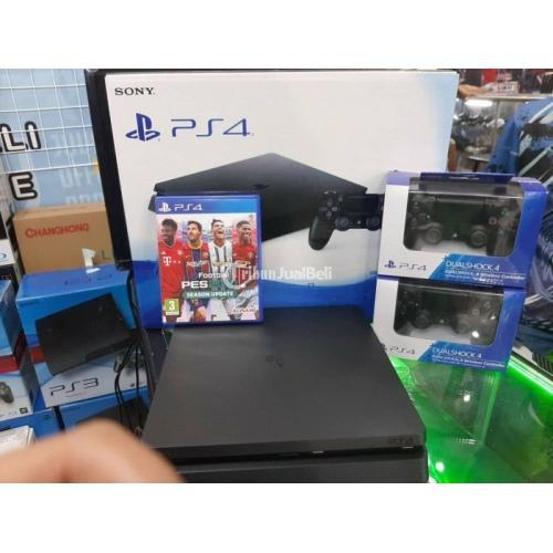 Konsol Game Sony PS4 Slim 1TB CUH 22 Bonus PES 2021 Stik Original Second - Bandung