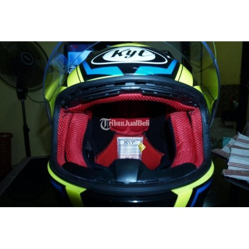 Helm Full Face KYT RC7 Mulus Bekas Jarang Pakai Busa Tebal Visor Ori Bening - Semarang