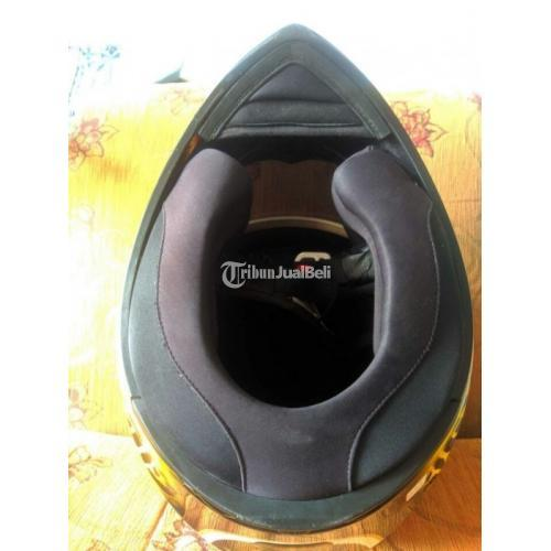 Helm Full Face AGV K3SV Marco Simoncelli Size XL Bekas Visor Clear Original - Surabaya