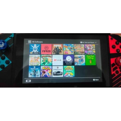 Konsol Game Nintendo Switch V2 Bekas Fullset Normal Harga Nego - Surabaya