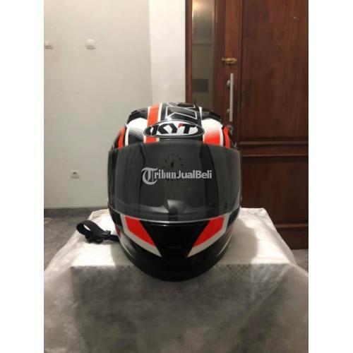 Helm Full Face KYT R10 Super Fluo Red Size L Bekas Mulus Visor Clear Ori - Solo