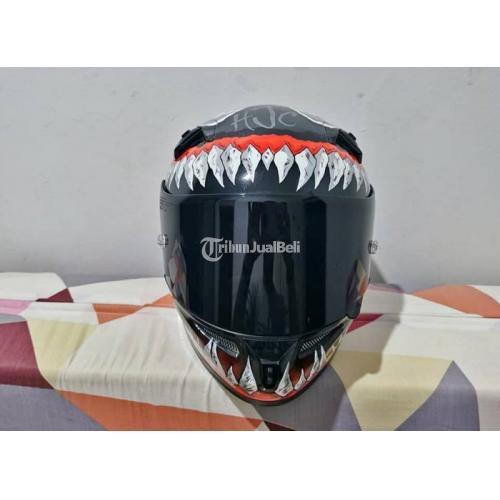 Helm Full Face KYT K2R Repaint HJC Venom Ukuran XL fit L Bekas Nominus - Semarang