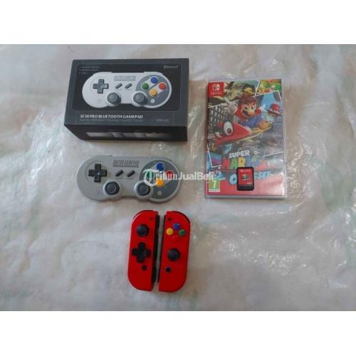 Joycon Red 8bitdo SF30 Pro Mario Odyssey Second Mulus Like New - Surabaya
